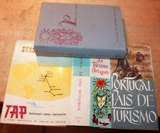 1960 English  Portuguese PAIS DE TURISMO maps pamphlets Pan Am tourism Europe