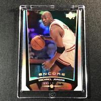 MICHAEL JORDAN 1998 UPPER DECK ENCORE #101 HOLOFOIL REFRACTOR CARD BULLS NBA MJ