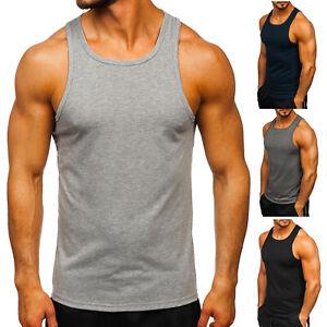 Tanktop Tee T-Shirt Muskelshirt Achselshirt Classic Basic Herren BOLF Unifarben