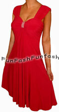 HC3 FUNFASH RED SLIMMING EMPIRE WAIST COCKTAIL CRUISE DRESS Plus Size 2X 22 24