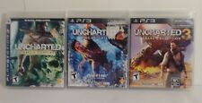 Ps3 Uncharted 1+ 2 & 3 BUNDLE LOT-PlayStation3 TESTED. COMPLETE. Free Shipping!!