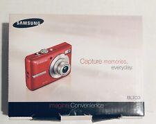 Samsung BL103 10.2MP Megapixels Digital Camera Red 3 Optical Zoom Lens New Open