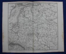 Original antique map ESTONIA, LATVIA. LITHUANIA, BALTIC, RUSSIA, Duvotenay, 1859