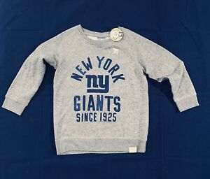 Brand New NFL New York Giants Girl's Gray Pullover Sweatshirt Size L