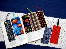 Lot of 7 Handmade Fabric or Cloth HALLOWEEN Themed Bookmarks Free Shipping