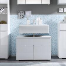 Waschbeckenunterschrank Spice Badezimmer Badmöbel Bad Schrank weiß hochglanz