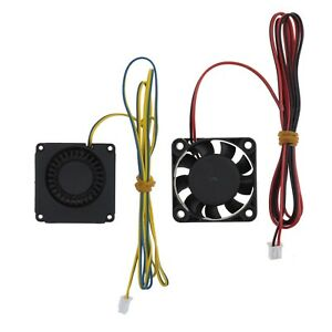 2Pcs 4010 Heat Radiator Fans Fit for Creality Ender 3 3D Printer Hotend Extruder