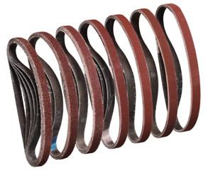 50 Pcs 13mm x 457mm Coarse 40 Grit Abrasive Alu Oxide Powerfile Sander Belt