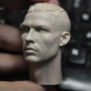 """1:6 Cristiano Ronaldo Head Sculpt Model For 12"""" Male PH TBL Action Figure Body"""