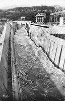 BR18036 Canal evacuateur de crues et batiment d administration genissiat  france