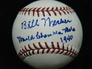 Bill Werber (D-2009) 1940 World Champion Reds autographed MLB baseball