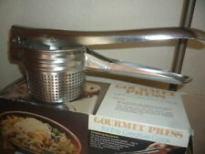NOS Stainless Steel Potato Masher Ricer Fruit Juicer Vegetable Press