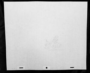 Cute Disney Scrooge McDuck Car Original Production Drawing Animation Art UF S18