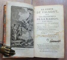 LE COMTE DE VALMONT, Ou Les Égaremens De La Raison 1784 Tome 2 ILLUSTRE
