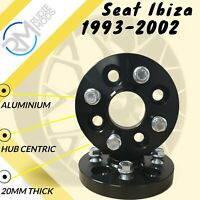 BLACK Seat Ibiza 1993-2002 4x100 20mm Hubcentric Wheel spacers 1 pair inc bolts
