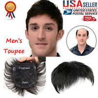 Ultra Thin Skin Invisible Mens Toupee Hairpiece PU Wigs Hair Replacement System