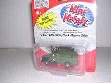 """C.M.W. Mini Metals #30220 1954 Ford F-350 Utility Truck """"Western Union"""" H.O."""