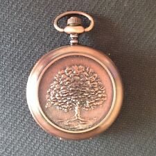 "POCKET WATCH NO.26 COPPER  COLOURED  HUNTER ""KINGS OAK"" DESIGN"