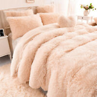 NEW Solid Long Pile Throw Blanket Soft Faux Fur Warm Shaggy Cover 130*160CM UK