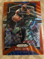 2019-20 Panini Prizm Ruby Red Wave Prizms #97 Bruce Brown Detroit Pistons