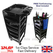 Salon Hairdresser Barber Hair Storage Trolley Beauty Drawers Spa Cart Colouring