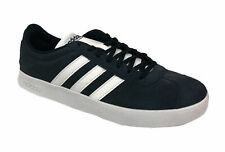 Adidas Men's VI Court 2.0 Suede Athletic Casual Shoes Navy Blue White Size 9