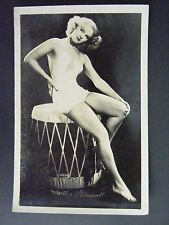 Martha O'Driscoll Actress Swimsuit Drum Vintage Real Photo Postcard RPPC 1930-50