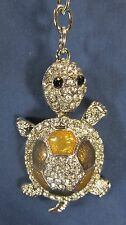Turtle Key Chain Jeweled Pewter Accessory