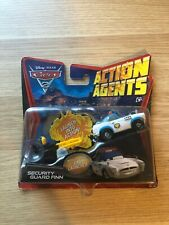 DISNEY PIXAR CARS 2 ACTION AGENTS SECURITY GUARD FINN DAMAGED CARD