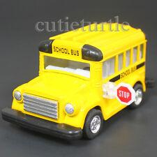 "3.75"" Short School Bus Diecast Toy Car Yellow KT4004D"