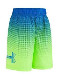 Under Armour Boys Blue & Fuel Green Swim Short Size 5 $26.99