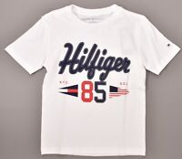 TOMMY HILFIGER Boys' Kids' Classic T-shirt, White, 4 5 6 7 years