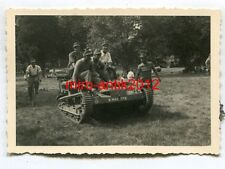 Foto, Gebirgsjäger mit Beute, Schlepper, Renault UE Chenillette, Frankreich