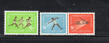 PAPUA NEW GUINEA #171-173  1962 BRITISH EMPIRE COMMENWEALTH GAMES MINT VF NH O.G