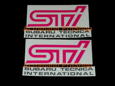 "2x 6"" 152mm fog lamp cover decal sticker for impreza GDB C D wrx MY05 sti S4 GVB"