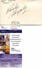 Pancho Gonzalez Tennis HOF Signed Autograph Vintage 1968 3x5 JSA COA