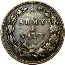 1863 Army & Navy Signed Es Emil Sigel Patriotic Civil War Token