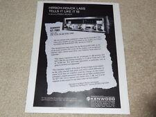 Kenwood KT-7001 Super Tuner Ad, 1973, Article, Info, RARE!