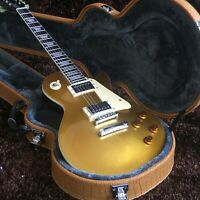 Custom Store New 2 Pickup Gold Powder Electric Guitar Fast Shipping