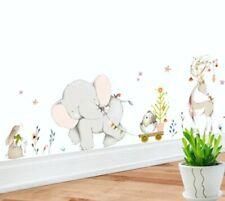 "Elephant Elk Wall Decal Stickers Nursery Childs Bedroom Playroom 35.43"" X 11.81"""