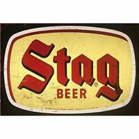 "Stag Beer Vintage Metal Signs 8"" x 12"""