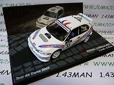voiture 1/43 IXO altaya Rallye Tour de Corse 2000 : TOYOTA COROLLA WRC S. LOEB