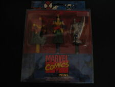 Rare Marvel Comics Party Pens lanyard (Iron Man Wolverine and Silver Surfer) MIP