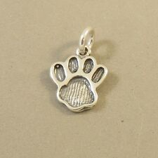 .925 Sterling Silver SMALL PAW PRINT CHARM NEW Dog Cat Animal 925 DG61