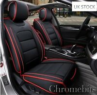 Audi A3 A6 A8 Q7 Q5 S-Line Deluxe Black PU Leather Cushion Front Seat Covers