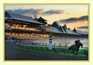 Sunrise Saratoga Race Track 11x14 Double Matted 8x12 Photo Print Travers Stakes