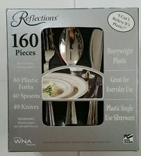Reflections Heavyweight Plastic Silverware - 160 Pieces - Free Exp Shipping
