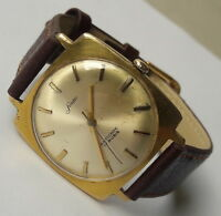 Vintage SANDER Antichoc Gold Plated 17Rubis PUW360 D.B.G.M. German Made From60's