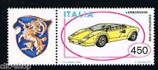 ITALIA 1 FRANCOBOLLO MACCHINA LAMBORGHINI AUTO APP. 1985 nuovo**