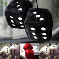 Plush Dice Craps JDM View Mirror Car Interior Pendant Charms Ornaments Hanging